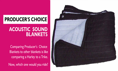 3 PACK BIG Acoustic Sound Blanket Sound Proofing w//Clips