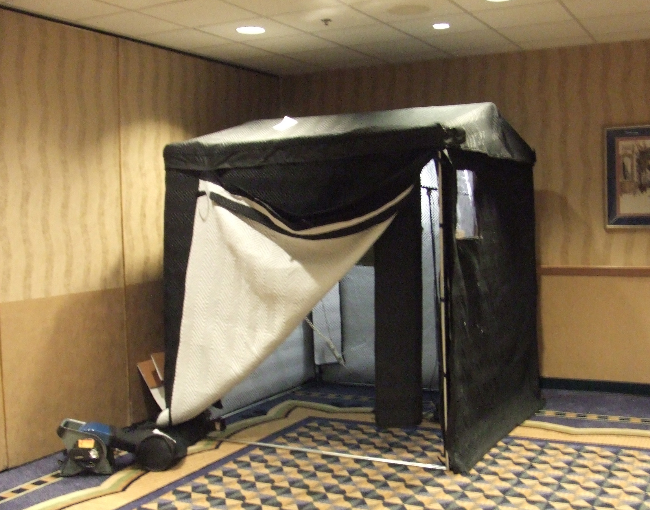 This Is Portable Full Size 6 X 6 Vocal Booth In Bags