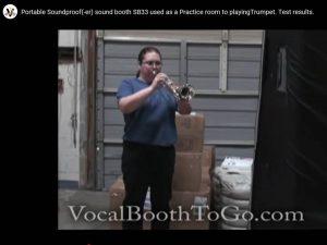 SoundProof(er) sound booth Trumpet Practice room