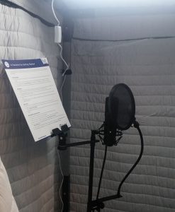 Acoustic Vocal booth AVB33 Inside View