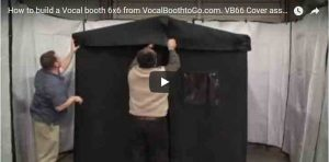 How-to-build-a-Vocal-booth-6×6-from-VocalBoothtoGo.com.-VB66-Cover-assembly-Instructions