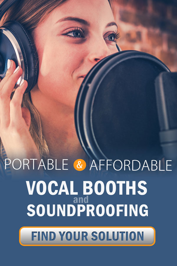 Mobile vocal booths, acoustic curtains, portable and affordable soundproofing.