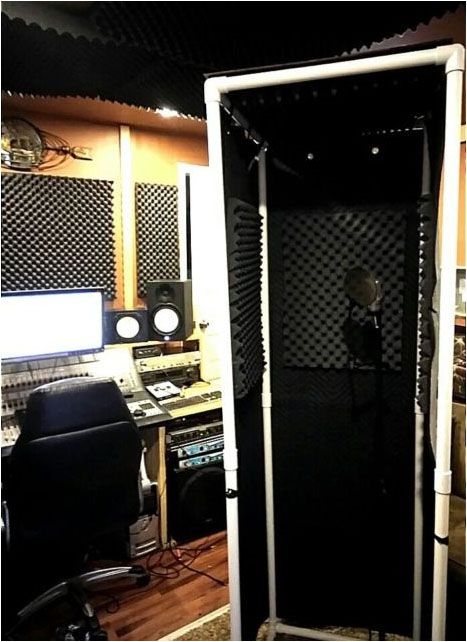 PVC- VocalBoothFrame with acoustic foam