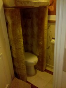 voice over in a bathroom- Cushions
