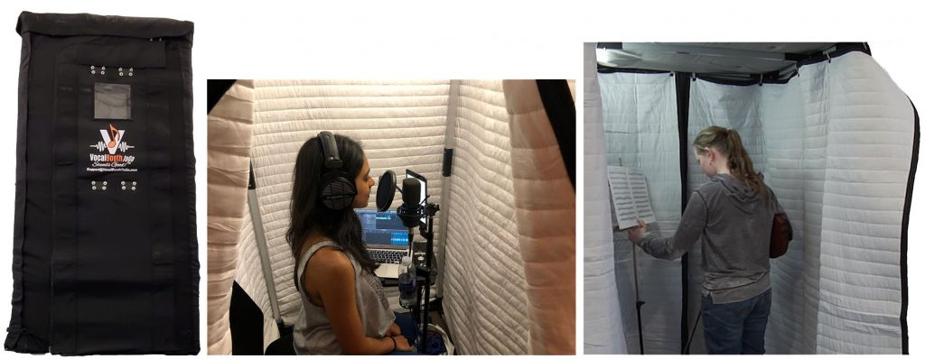 Recording in Soundproof booth SPB33