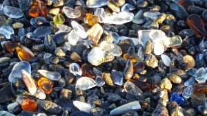 Glass Beach - print on blankets