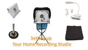 Portable Voice Over Recording Studiom - Set up