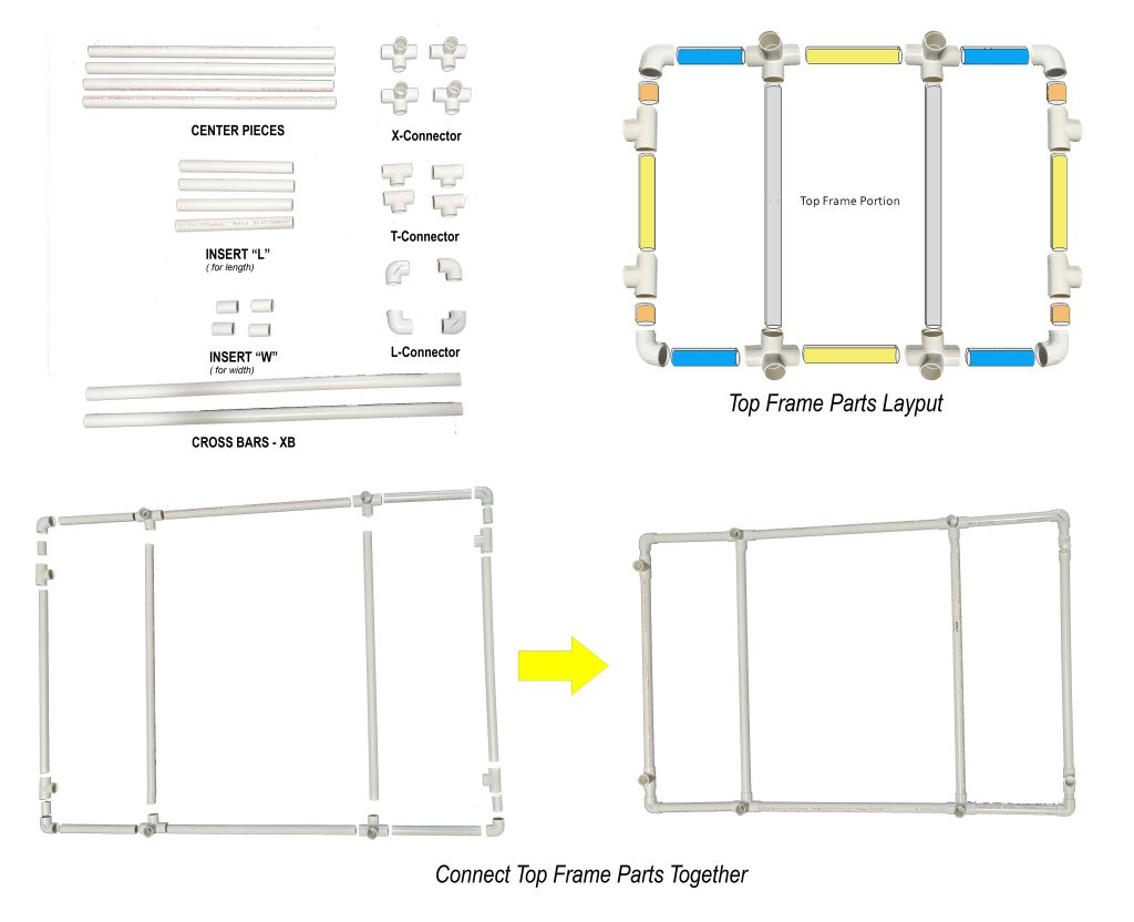 PVC Vocal Booth frame Top assembly