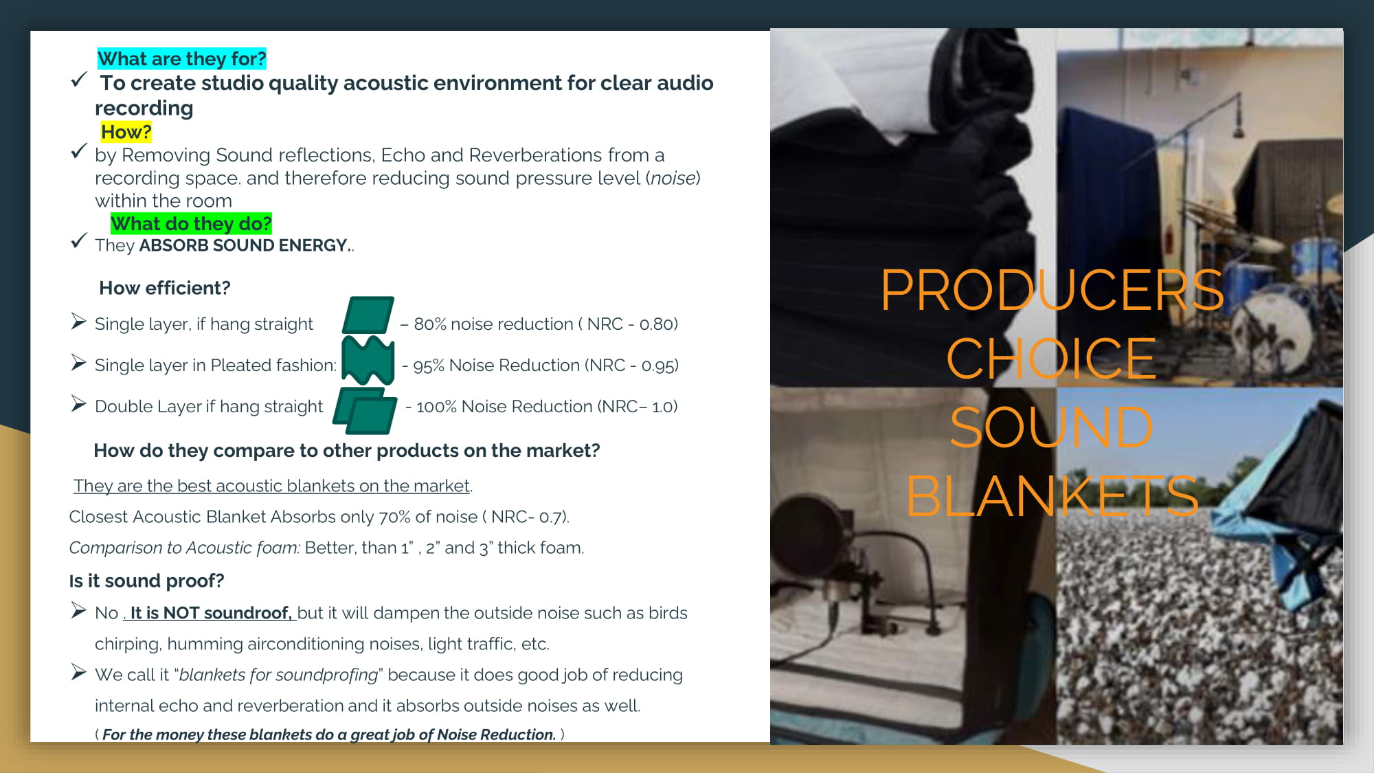 PRODUCERS CHOICE SOUND BLANKETS